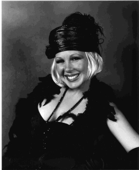 Robbie in a 1920's flapper costume