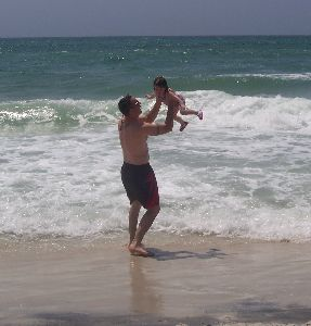 Mike and Olivia on Panama City Beach.