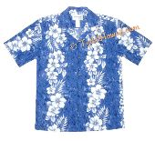 Hawaiian luau wedding groom's shirt.