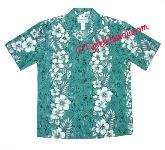 Hawaiian luau wedding groomsmens' shirts.