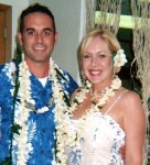 Robbie & Mike Rice at their Luau Wedding